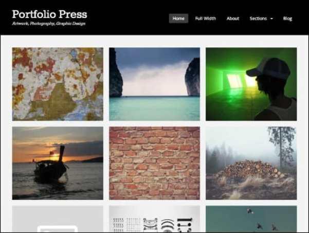 portfollio-press wordpress theme