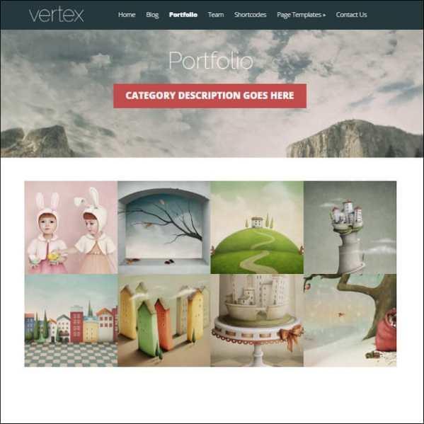 Vertex One-Page WordPress Theme