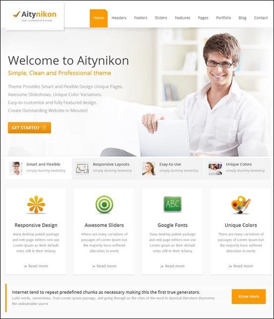 Aitynikon - Responsive Multipurpose Template