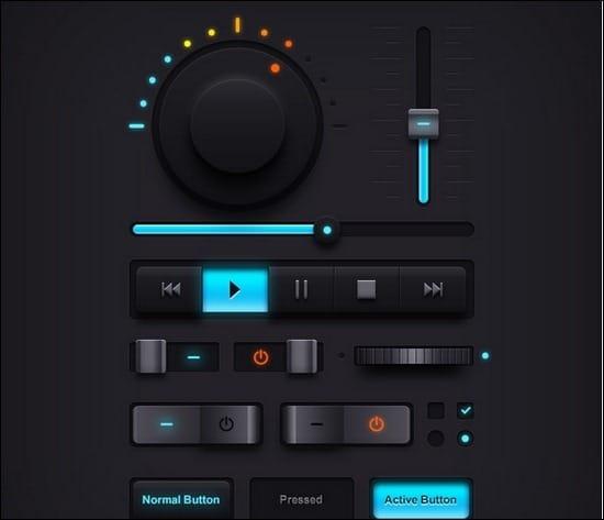 Dark-Music-UI-Elements
