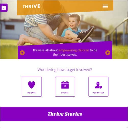 Thrive Non Profit Charity Muse Theme