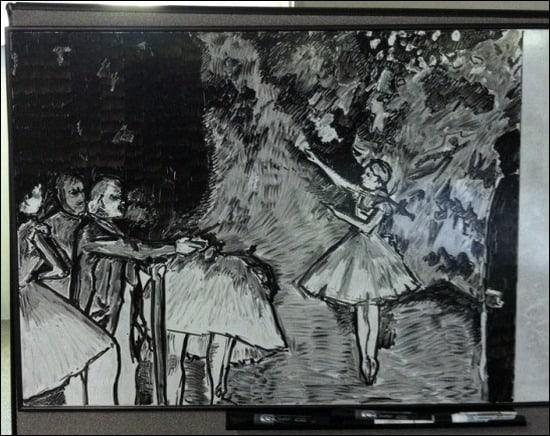BalletClassWhiteboardArt