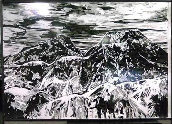MountainsWhiteboardArt