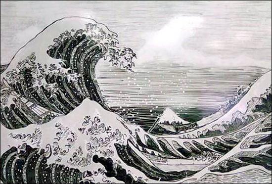 Sea-Waves-Whiteboard-Art