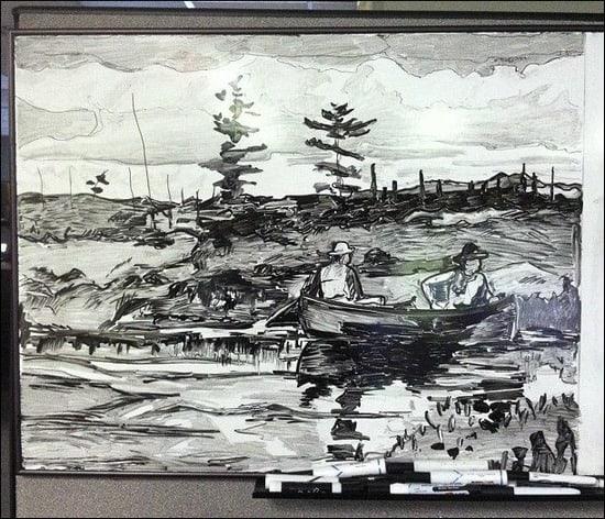 The-Blue-Boat-Whiteboard-Art