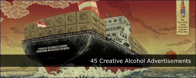 45 Creative Alcohol Advertisements