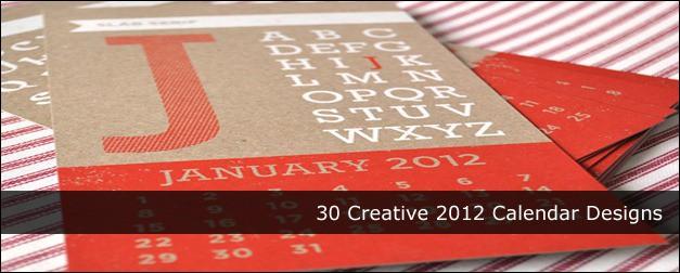 35 Creative 2012 Calendar Designs
