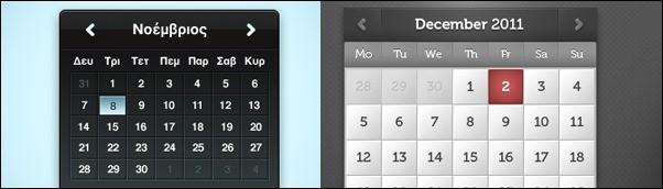 30+ Inspiring Free Calendar and Date Picker PSD Designs