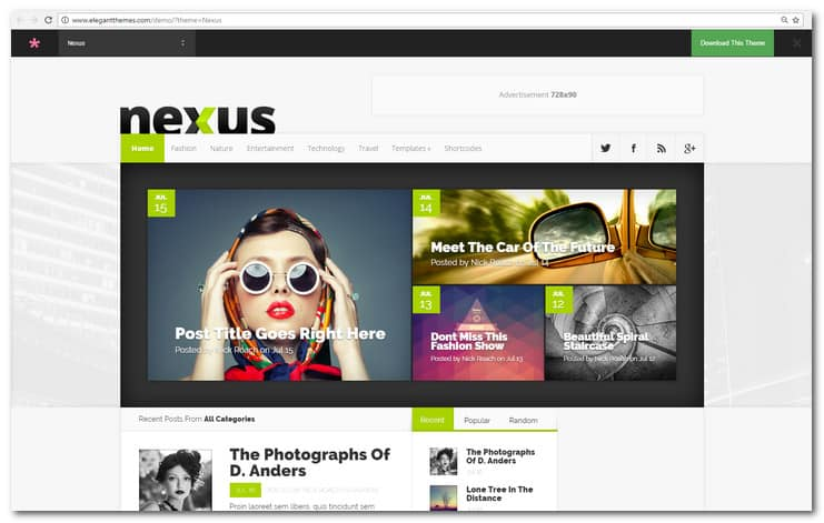 Nexus Magazine/Blog WordPress Themes