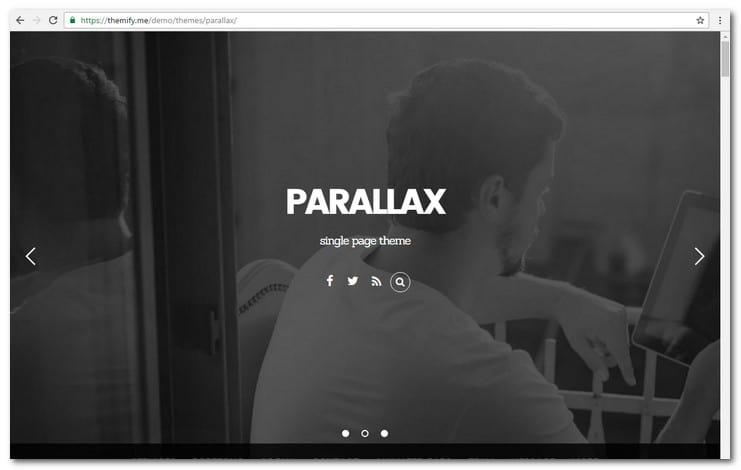 Parallax One Page Portfolio Theme