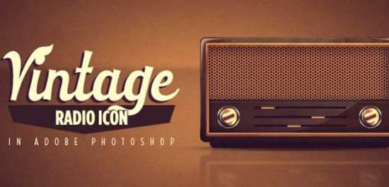 Design a Vintage Radio Icon in Photoshop