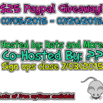 Blogger Opp for a $25 Paypal Giveaway – Sign-Ups Close 7/03