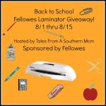 Back to School Fellowes #Laminator #Giveaway 8/1 – 8/15 ENDED