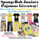 SpongeBob Juniors Pajamas Giveaway Aug 12 – Sept 2