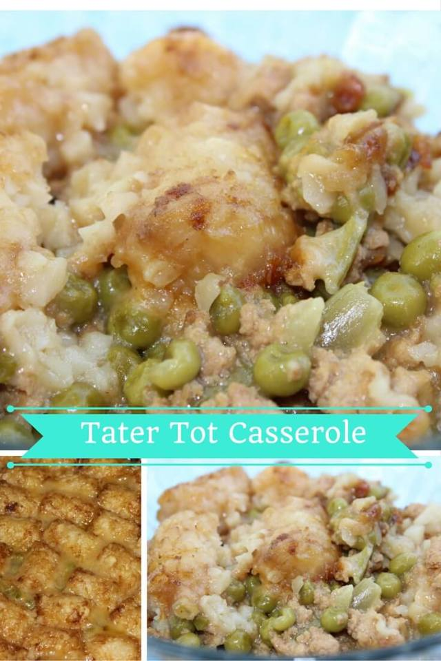 Tater Tot Casserole in the Slow Cooker