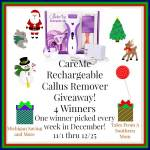 Care Me Rechargeable Callous Remover #Giveaway Ends Dec. 25 ENDED