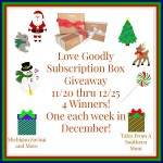 Love Goodly #Giveaway Ends Dec. 25  #GTG2015