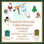 PumPedi Electronic Callus Remover #Giveaway Ends Dec. 25 ENDED