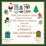 Think Fun Winners Choice Game #Giveaway #GTG2015 Ends Dec. 25