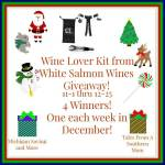 White Salmon Wines Wine Lover Kit #Giveaway #GTG2015 Ends Dec. 25
