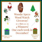 Woodie Specs Wood Watch #Giveaway Ends Dec. 25 ENDED