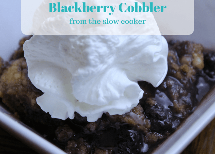 You only need a handful of ingredients to make this super easy slow cooker Blackberry Cobbler.