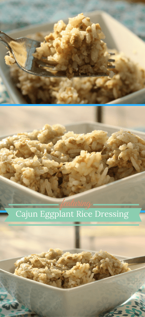 Have you tried this Cajun Eggplant Rice Dressing? Great way to sneak veggies and fiber into a one pot meal.