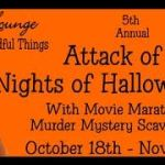 5th Annual Attack of the 14 Nights of Halloween #Giveaway Ends Nov. 1 *Ended*