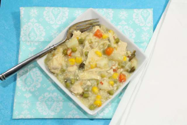 Creamy Chicken Soup is a hearty slow cooker meal.