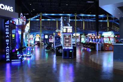 The video game area of Main Event Entertainment