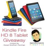 Kindle Fire HD 8 Tablet with Alexa #GIVEAWAY Ends Aug. 6