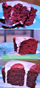 Red Velvet Brownies made with red velvet cake mix! Couldn't be any easier!