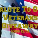 Salute to Our Veterans Giveaway #giveaway @las930 Ends Nov. 11 *ENDED*