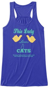 """""""This Lady Loves Cats"""" Tank Top"""