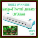 Marigold Thermal Laminator #Giveaway Ends Nov. 27 *ENDED*
