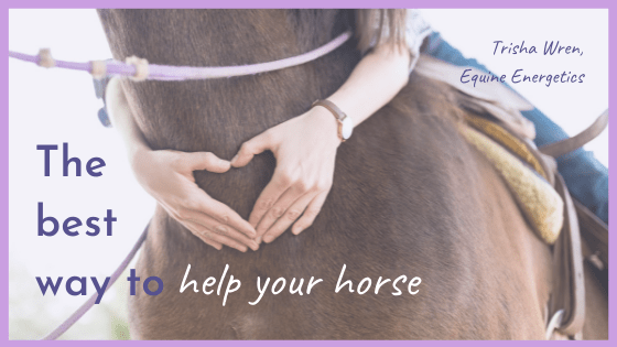 The best way to help your horse