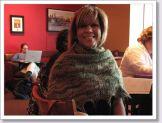 Ileana models a beautiful shawl