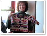 Tammy shows her beautiful sweater
