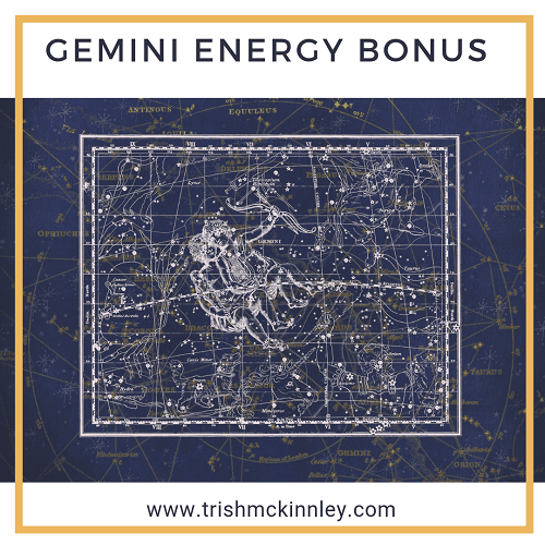 Pictures of astrology with 'Gemini Energy Bonus' above it