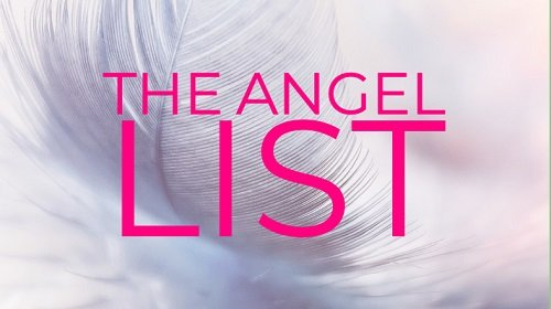 Single feather with 'The Angel List' title overlay
