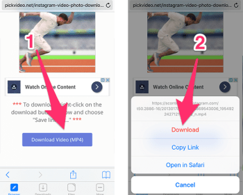 How to download Instagram Vidoes on IOS | instagram free download for android