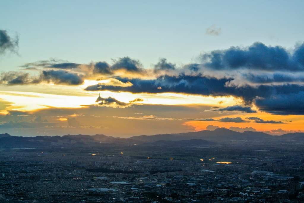 Sunset au Cerro Monserrate à Bogota en Colmobie