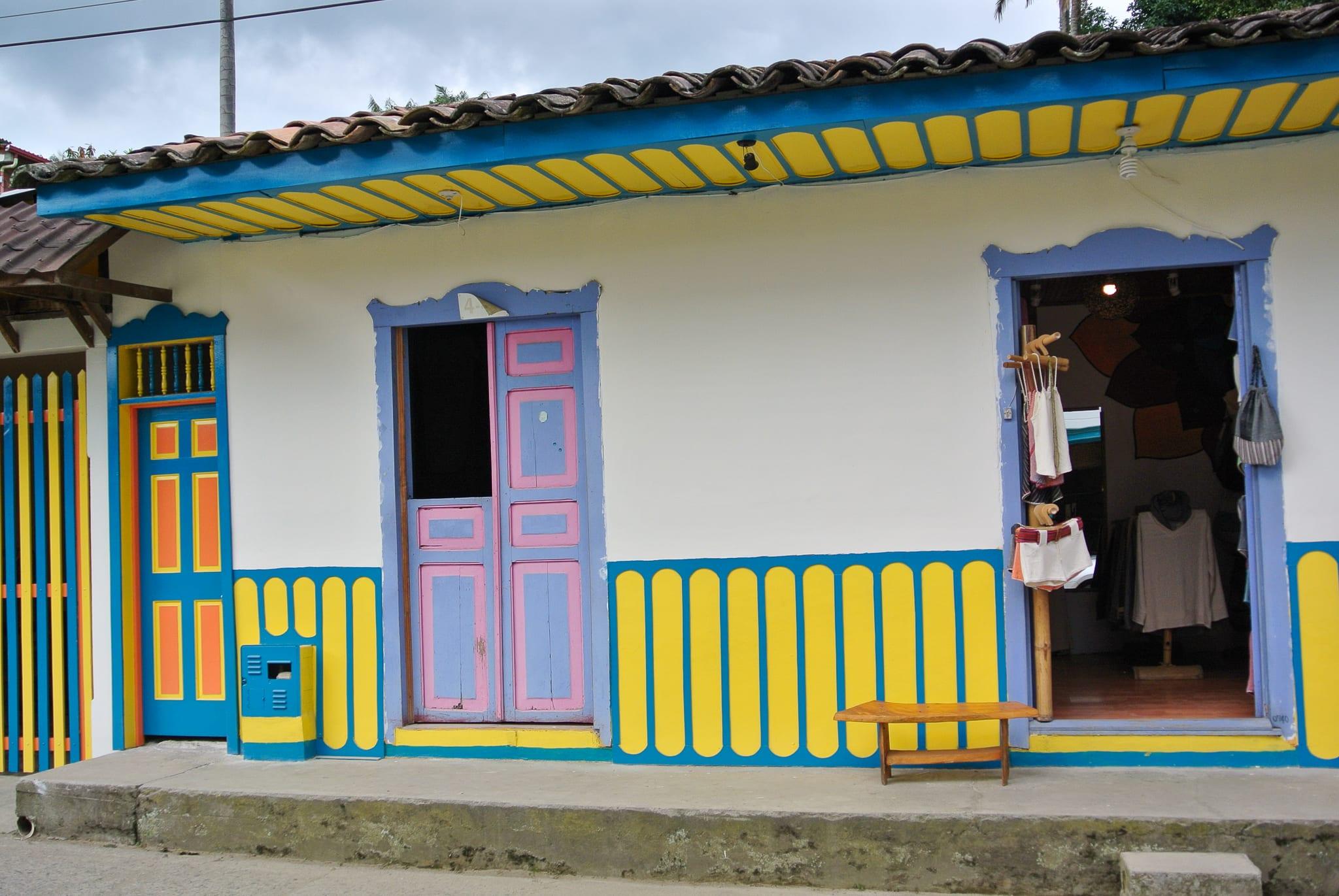 Les maisons de Salento en Colombie
