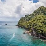Anse Céron en Martinique en drone