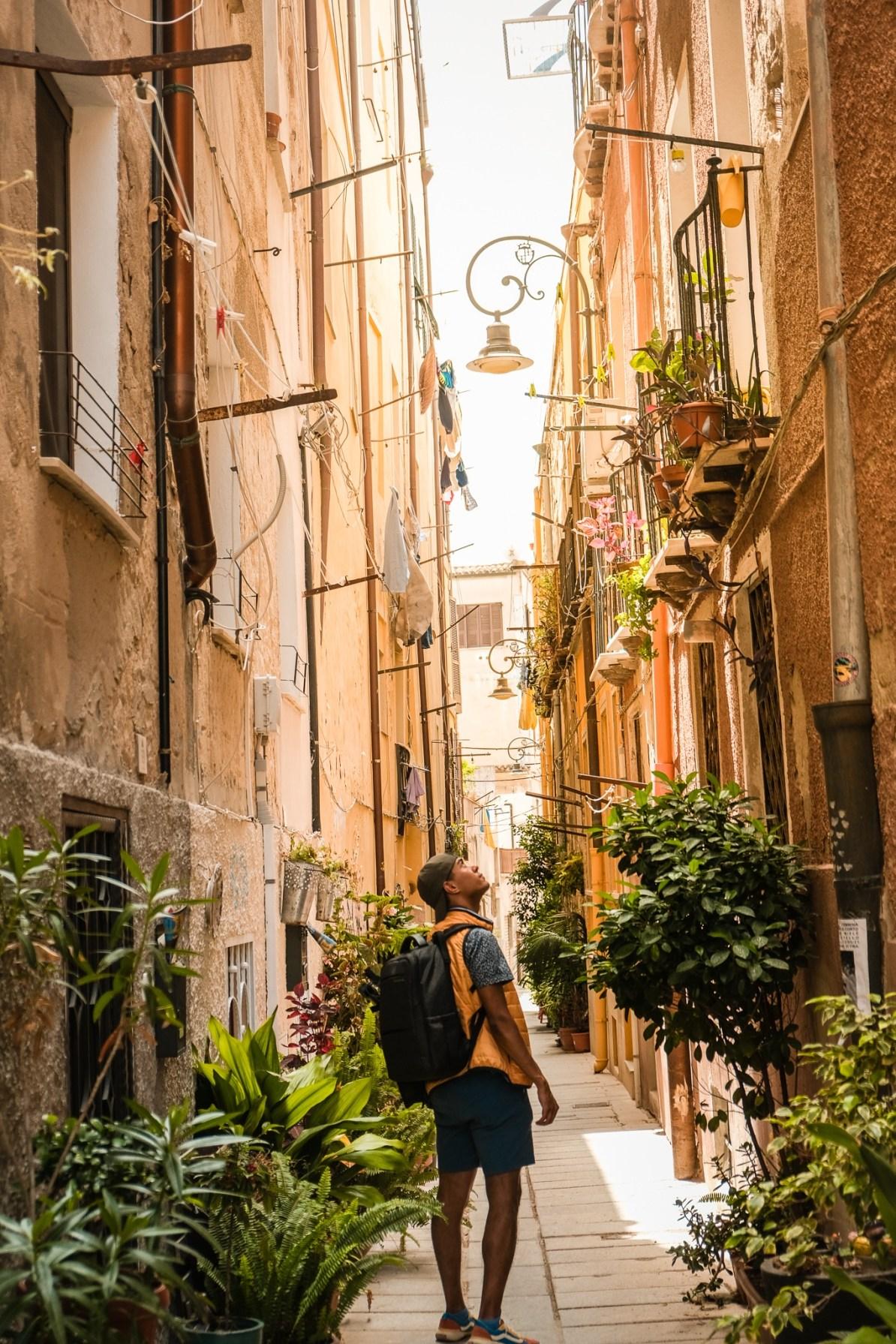 La quartier historique de la Cagliari en Sardaigne