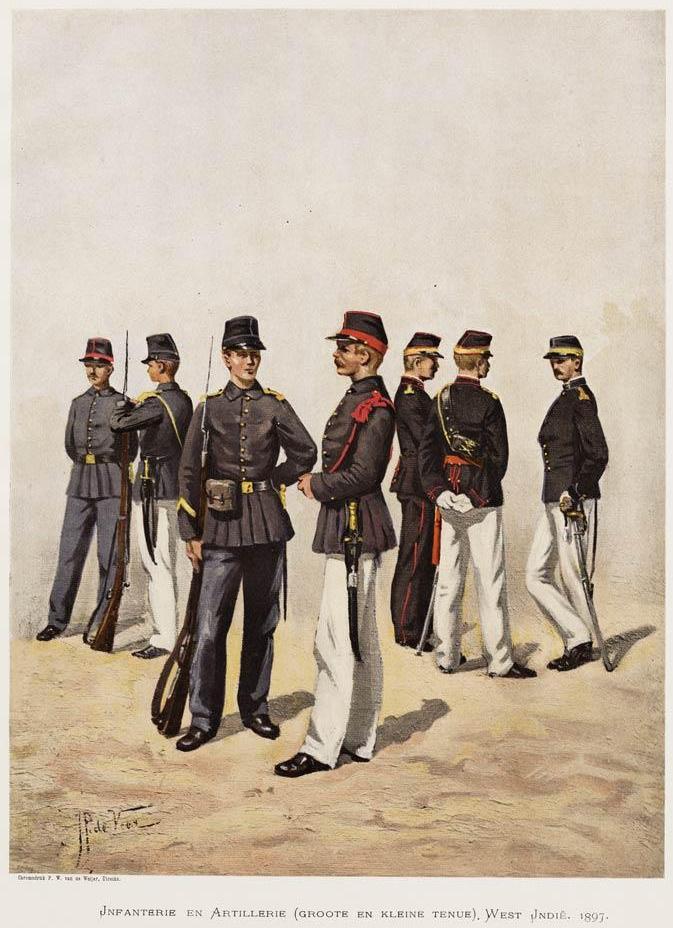 Militairen Suriname 1897