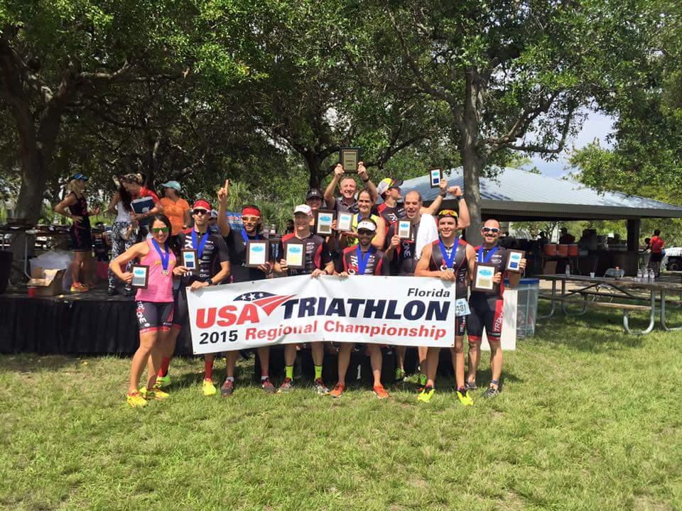Tri2One, time campeão estadual de triathlon da Florida