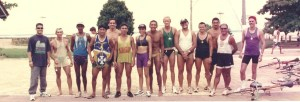 Triatletas amazonenses em 1999. Foto: Fábio Honda