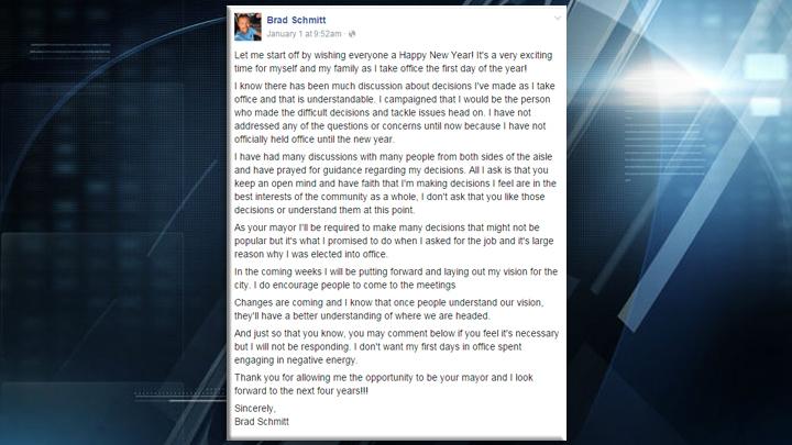 Princeton Mayor FB post