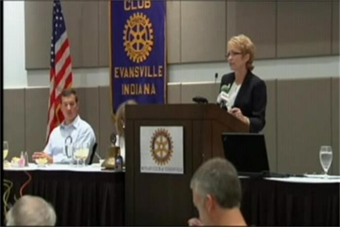 Sue Ellspermann Discusses Business Policies with Rotary Club_392708672060935695